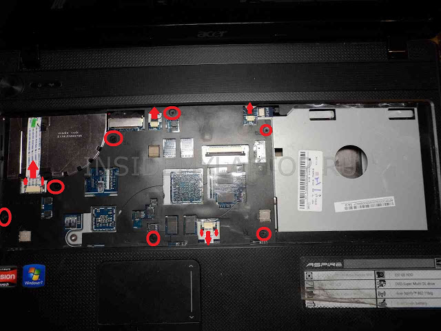 Как разобрать ноутбук Acer Aspire 5552G